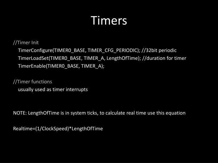 Timers