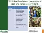wp 3 land and water management soil and water conservation