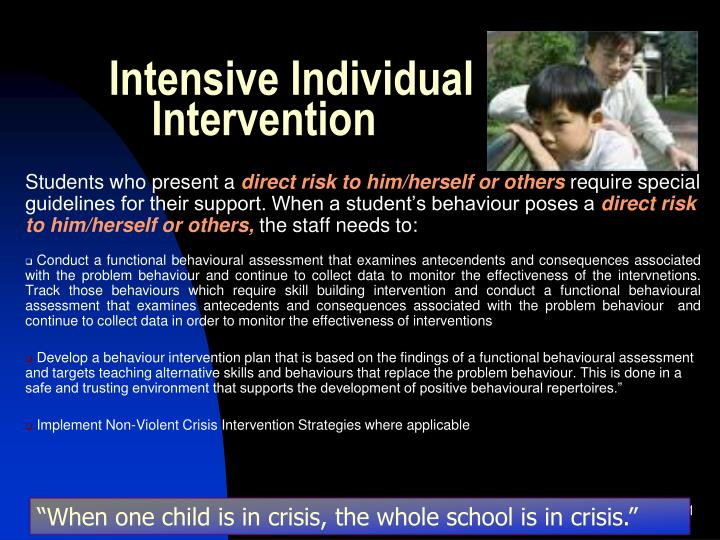Intensive Individual Intervention