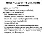 three phases of the civil rights movement