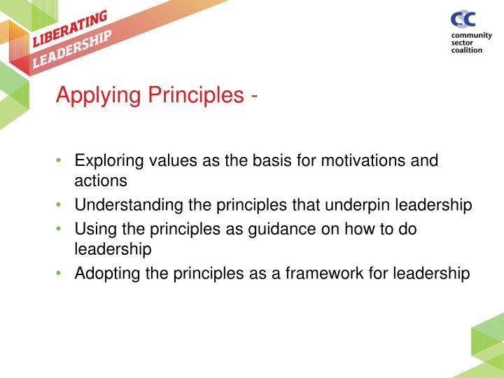Applying Principles -