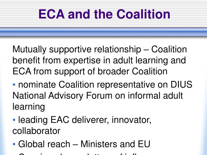 ECA and the Coalition