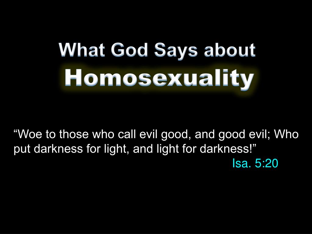 Causes homosexuality ppt