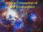 artist s conception of grb environment
