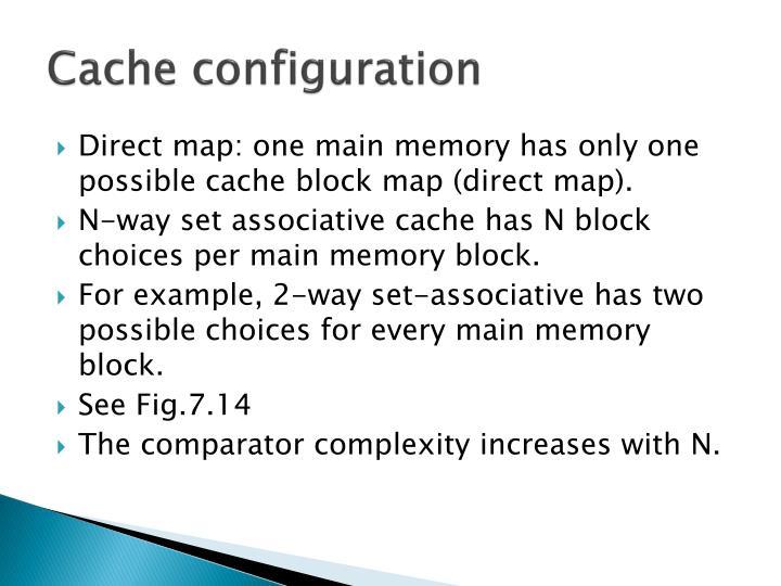 Cache configuration1