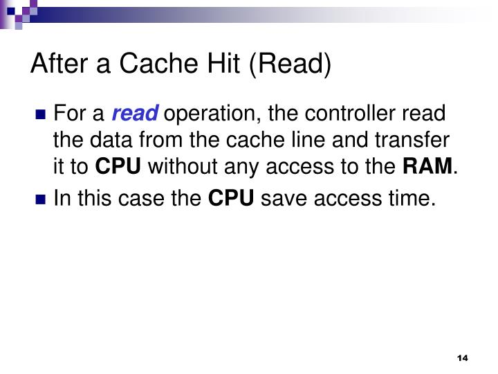 After a Cache Hit (Read)