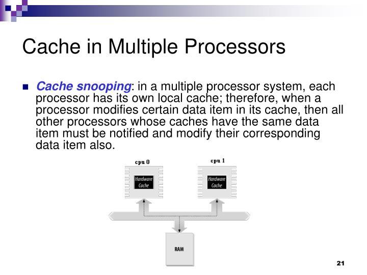 Cache in Multiple Processors