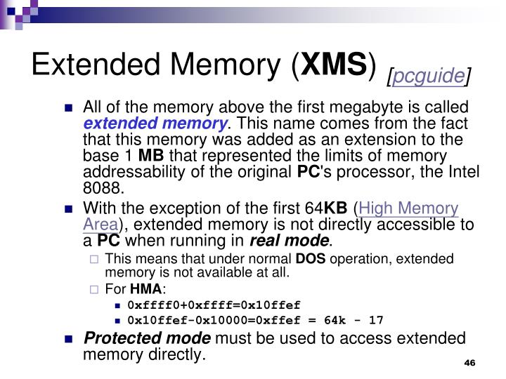 Extended Memory (