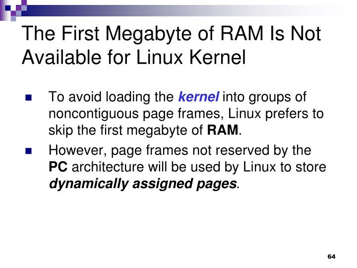 The First Megabyte of RAM Is Not Available for Linux Kernel