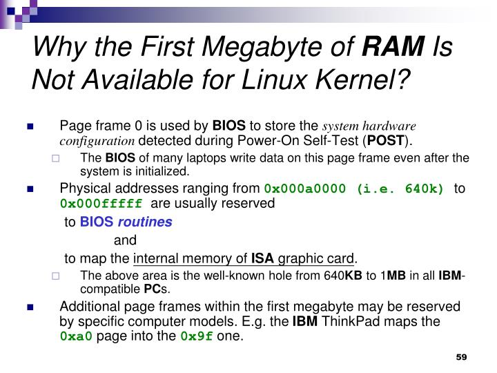 Why the First Megabyte of