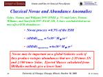 classical novae and abundance anomalies