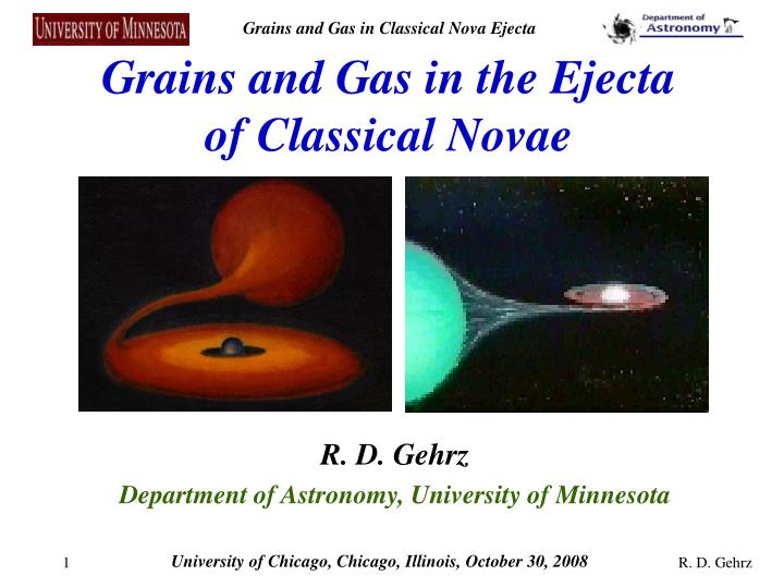 grains and gas in the ejecta of classical novae