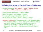 ir radio observations of classical novae collaborators