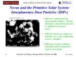 novae and the primitive solar system interplanetary dust particles idps
