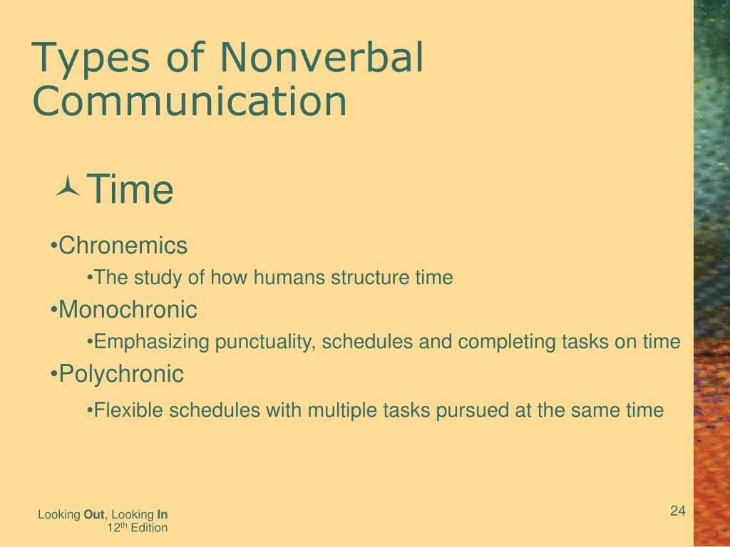 Ppt Nonverbal Communication Messages Beyond Words Powerpoint Presentation Id 4475665 Click to view a presentation on a type of nonverbal communication that is known as chronemics! ppt nonverbal communication messages