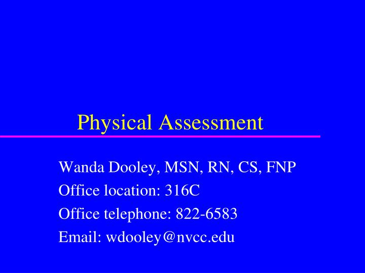 physical assessment of a child