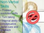 non verbal skills