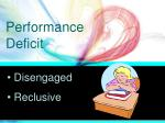 performance deficit