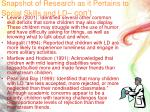 snapshot of research as it pertains to social skills and ld con t2