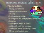 taxonomy of social skills con t