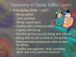 taxonomy of social skills con t2