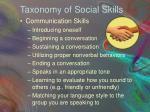 taxonomy of social skills
