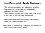 non parametric tests ranksum