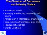 the chamber of commerce and industry vratsa