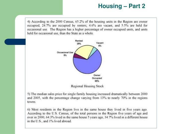 Housing – Part 2