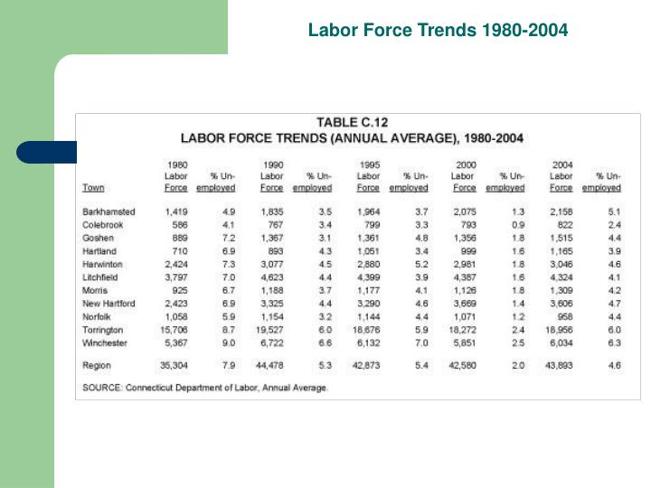 Labor Force Trends 1980-2004