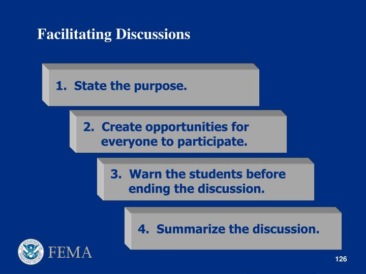 Facilitating Discussions
