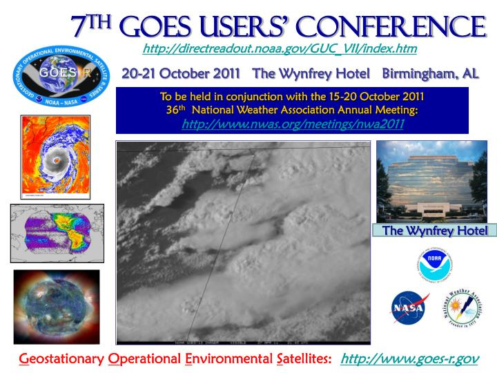 7 th goes users conference