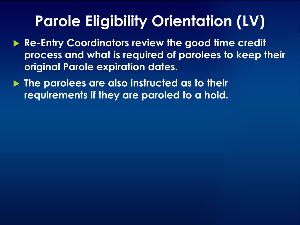PPT - Nevada Department of Public Safety Division of Parole