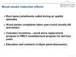 wood smoke reduction efforts