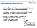 wood stove change out program