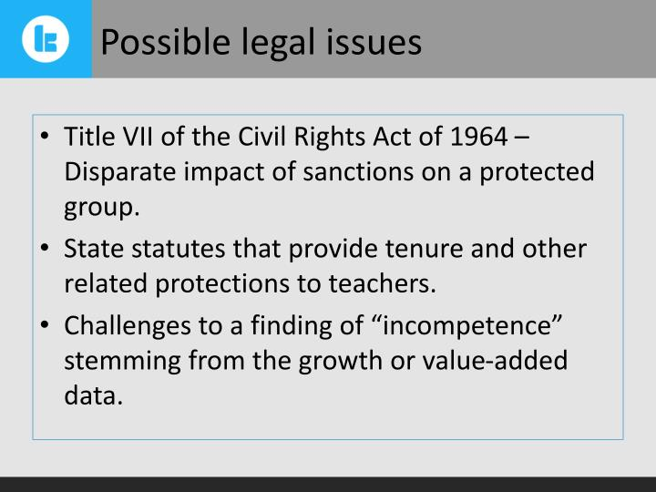 Possible legal issues