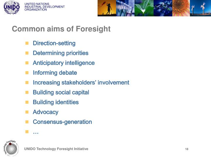Common aims of Foresight