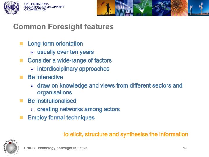 Common Foresight features
