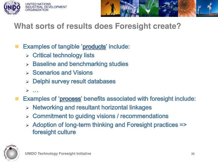 What sorts of results does Foresight create?