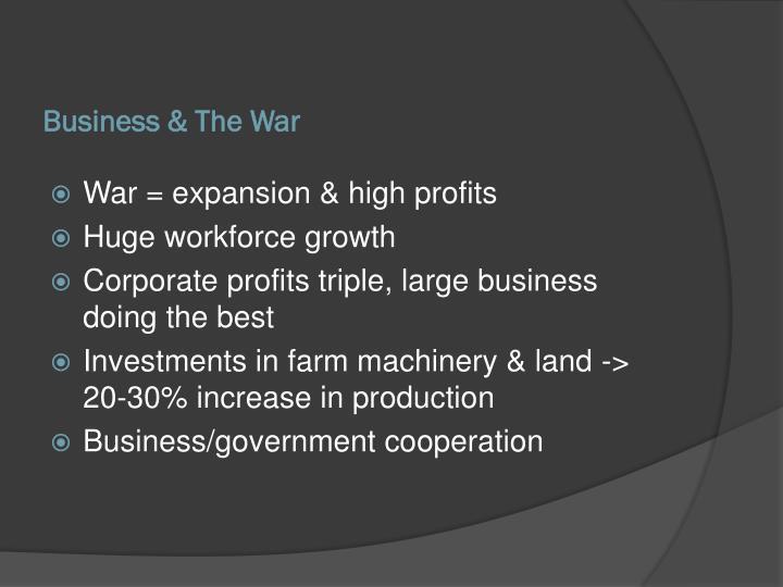 Business & The War