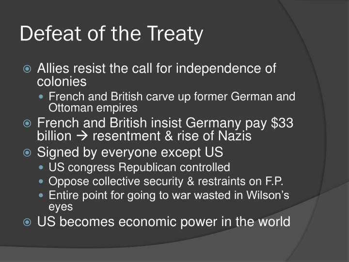 Defeat of the Treaty