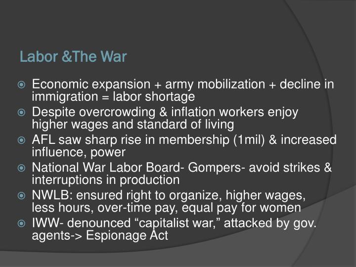 Labor &The War