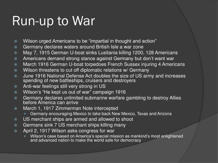 Run-up to War