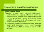 investments in waste management1