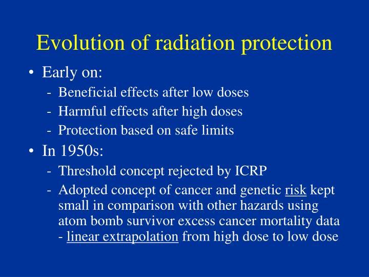 Evolution of radiation protection