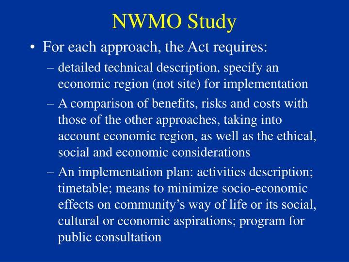 NWMO Study