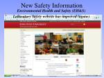 new safety information