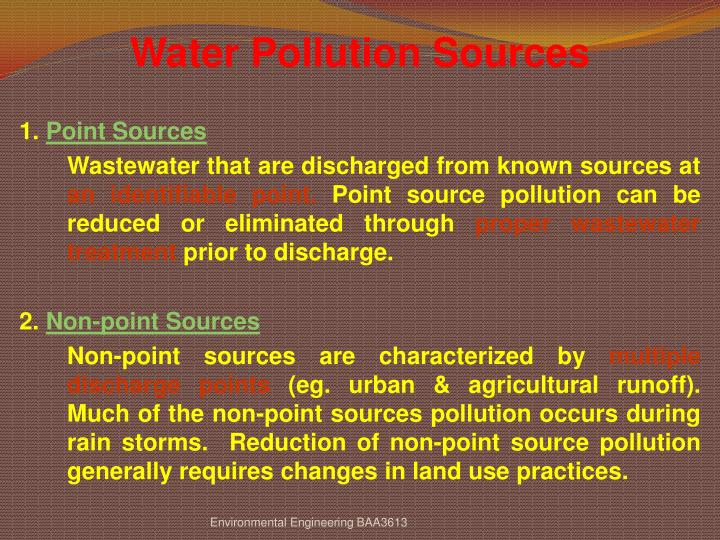Water Pollution Sources