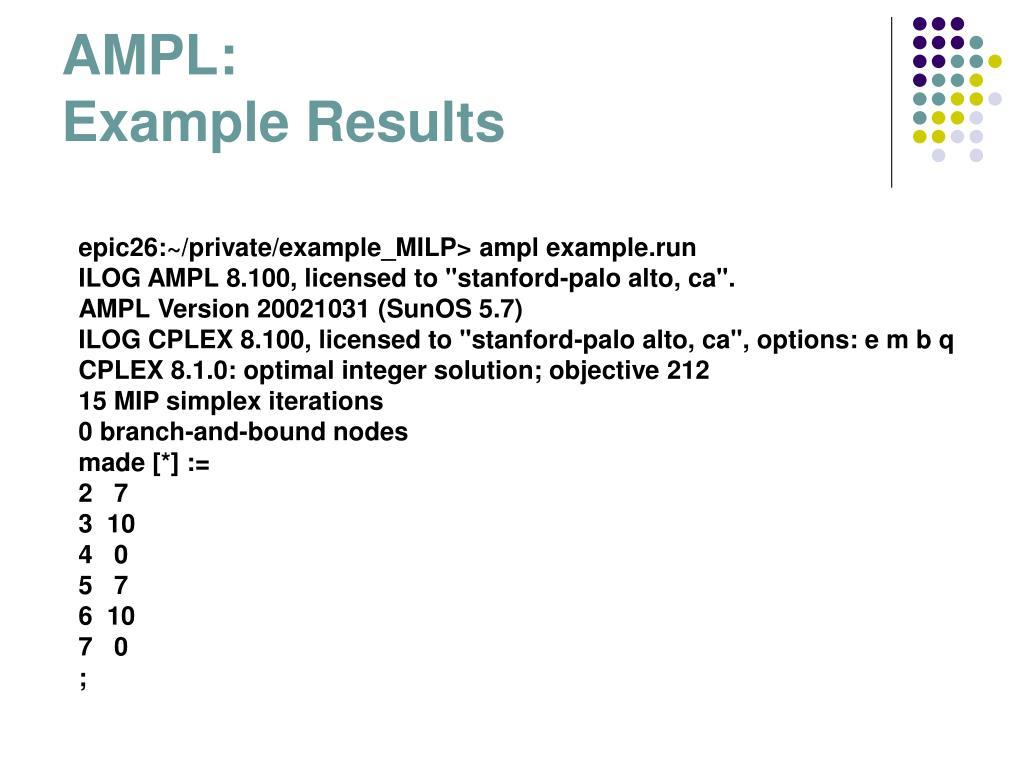 Cplex Example Python