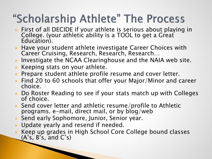 full scholarship athletes should be able to experience work It's tempting to believe that student athletes care only about that hasn't been my experience at why a system that shouldn't work at all works so.